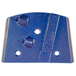 EDCO MAGNA-TRAP� Medium  Aggressive Removal-LEFT-Hand PCD w/Backing Segment - Blue - Part #QC-PCD1-LB