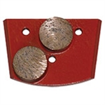 EDCO QC2B-HC-0120 120 - Grit Double Diamond Grinding Dot (Hard Concrete)