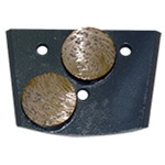 EDCO QC2B-MC-0030 30 - Grit Double Diamond Grinding Dot (Medium Concrete)