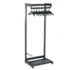 Quartet Single-Side, Garment Rack w/Two Shelves, Eight
