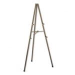 Quartet Tripod Display Easel, 72 High, Steel, Bronze #