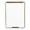 Quartet Oval Dry-Erase Board, 29 x 40, Metallic Bronze