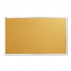 Quartet Cork Bulletin Board, Natural Cork/Fiberboard, 6