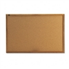 Quartet Cork Bulletin Board, Cork Over Fiberboard, 36 x