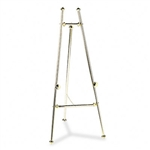 Quartet Decorative Display Easel, 69 High, Brass/Brass