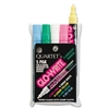 Quartet Glo-Write Fluorescent Markers, Five Assorted Co
