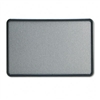 Quartet Contour Fabric Bulletin Board, 36 x 24, Gray, P
