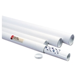 Quality Park Fiberboard Mailing Tube, Recessed End Plug