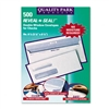 Quality Park Reveal-N-Seal Double Window Check Envelope