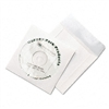 Quality Park Tech-No-Tear CD/DVD Sleeves, White, 100/Pa