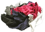 Reclaimed Colored T-Shirts Cleaning Rags, 45 lb. bag
