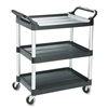 Rubbermaid Economy Plastic Cart, 3-Shelf, 200lbs, 18-5/