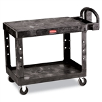 Rubbermaid Commercial Flat Shelf Utility Cart, 2-Shelf,
