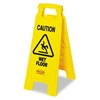 "Rubbermaid ""Caution Wet Floor"" Floor Sign, Plastic, 11"