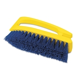 "Rubbermaid® Commercial Iron-Shaped Handle Scrub Brush, 6"" Brush, Yellow Plastic Handle/Blue Bristles # RCP6482COB"