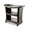 Rubbermaid Commercial Executive Service Cart, 3-Shelf,
