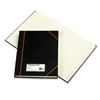 National Brand Texhide Accounting Book, Black/Burgundy,