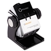 Rolodex Wood Tones Open Rotary Business Card File Holds