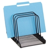 Rolodex Mesh Flip File Folder Sorter, 5 Sections, Black