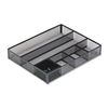 Rolodex Deep Desk Drawer Organizer, Metal Mesh, Black #