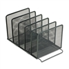 Rolodex Mesh Stacking Sorter, 5 Sections, Metal, 8 1/2w