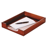 Rolodex Wood Tones Letter Desk Tray, Wood, Mahogany # R