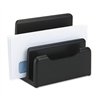 Rolodex Wood Tones Desktop Sorter, 3 Sections, Wood, Bl