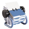 Rolodex Colored Open Rotary Business Card File Holds 40