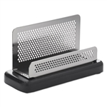 Rolodex™ Distinctions Business Card Holder, Capacity 50 2 1/4 x 4 Cards, Black # ROLE23578