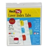 Redi-Tag Laser Printable Index Tabs, 1 1/8w x 1 1/4h, F