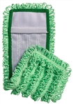 "Microfiber Pocket Mops, Canvas Back, 18"", Green,S-PKTGRE"