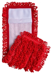 "Microfiber Pocket Mops, Canvas Back, 18"", Red, S-PKTRED"