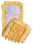 "Microfiber Pocket Mops, Canvas Back, 18"", Yellow, S-PKTYEL"