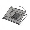 Safco Onyx Adjustable Steel Mesh Laptop Stand, 12 1/4w
