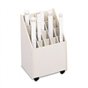 Safco Laminate Mobile Roll File, 20 2-3/4 x 2-3/4 Bins,