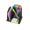 Safco Onyx Mini Organizer w/3 Compartments, Steel Mesh,