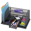 Safco Three-Drawer Organizer, Steel, 15 7/8 x 11 3/8 x