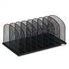 Safco Mesh Desk Organizer, 8 Sections, Steel, 19 3/8w x