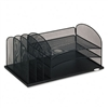 Safco Desk Organizer, 6 Sections, Steel Mesh, 19 3/8w x
