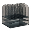 Safco Mesh Desk Organizer, 8 Sections, Steel, 13 1/2w x