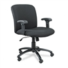 Safco Chair, Mid-Back, Big & Tall, Black # SAF3491BL