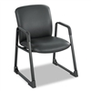 Safco Uber Series Big/Tall Guest Chair, Vinyl, Black #