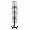 Safco 16-Pocket, Welded Open Wire Rotary Display Rack,