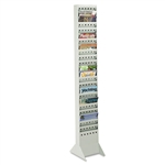 Safco Steel Magazine Racks, 23 Pockets, 10 x 4 x 65 1/2