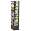 Safco Steel Rotary Magazine Rack, 92 Pockets, 14 x 14 x