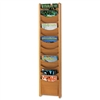 Safco Solid Wood WALLMount Literature Display Rack, 12