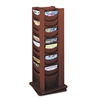 Safco 48-Pocket Rotary Literature Display Rack, Mahogan