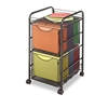 Safco Onyx Mesh Mobile Double File, 1-Shelf, 15-1/2 x 1