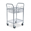 Safco Wire Mail Cart, 600lbs, 18-3/4 x 26-3/4 x 38-1/2,