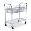 Safco Wire Mail Cart, 600lbs, 18-3/4 x 39 x 38-1/2, Met